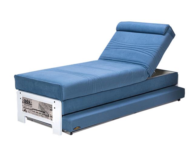 מבריק פניקה רהיטים. מיטות: ספת נוער מתכווננת + מיטה נגררת על קל דגם לידר QL-53