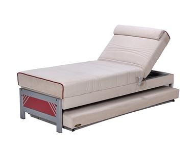 מיטות: ספת נוער מתכווננת + מיטה נגררת על קל דגם קורל