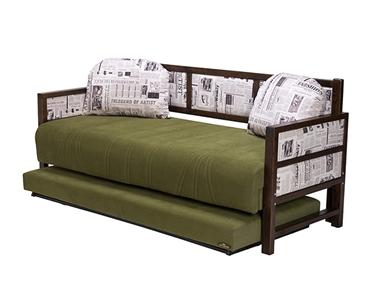מיטות: ספת נוער + מיטה נגררת על קל דגם אייבאד