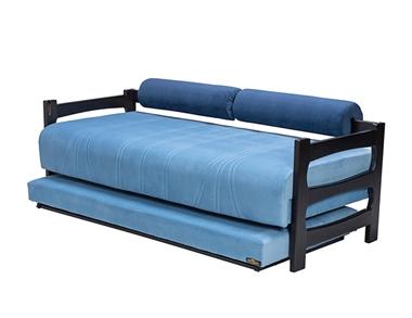 מיטות: ספת נוער + מיטה נגררת על קל דגם בייבי