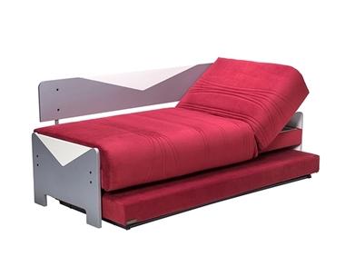 מיטות: ספת נוער מתכווננת + מיטה נגררת על קל דגם פליימוביל