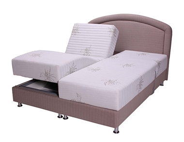 מיטות: מיטה זוגית מרופדת מתכווננת חשמלית דגם אולטרה קומפורט