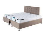 תמונה של מיטות: מיטה זוגית מרופדת בהפרדה יהודית ראש שלם דגם פלאוור