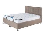 תמונה של מיטות: מיטה זוגית מרופדת בהפרדה יהודית ראשים נפרדים דגם פלאוור