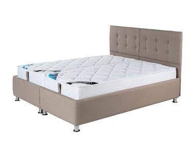 מיטות: מיטה זוגית מרופדת בהפרדה יהודית ראשים נפרדים דגם פלאוור