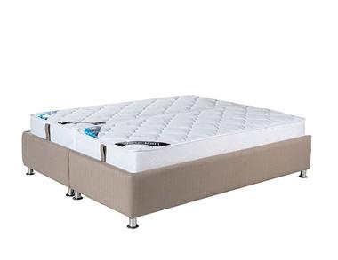 מיטות: מיטה זוגית מרופדת בהפרדה יהודית דגם פלאוור