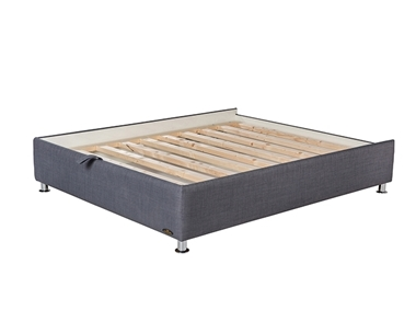 מיטות: בסיס מיטה זוגית מרופד עם מסגרת דגם פלאוור