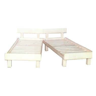 תמונה של מיטות: מיטה זוגית יהודית מעץ מלא דגם צרפת