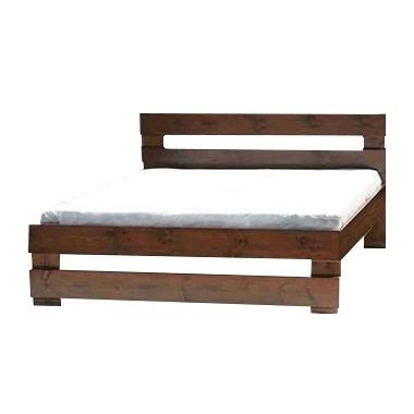 מיטות: מיטה זוגית מעץ מלא