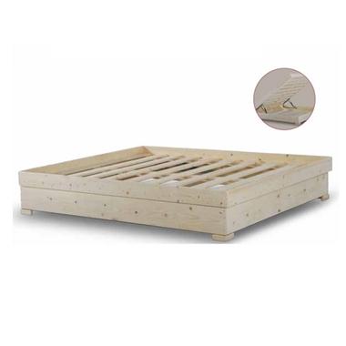 מיטות: בסיס מיטה זוגי מעץ מלא + ארגז מצעים דגם ניירובי