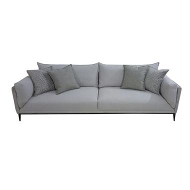 מערכות ישיבה: ספת תלת  + הדום תואם בעיצוב מינימליסטי מודרני