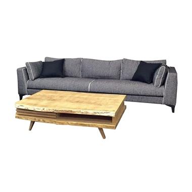מערכות ישיבה: סלון תלת + הדום דגם מאירה