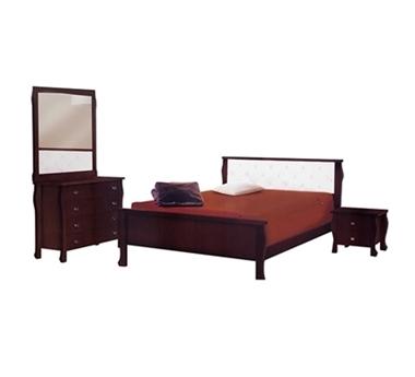 חדרי שינה: חדר שינה זוגי עץ מלא דגם אוריה