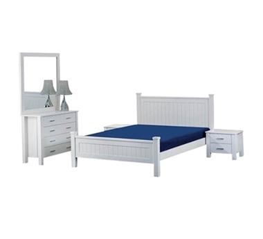 חדרי שינה: חדר שינה זוגי עץ מלא דגם נסיכה