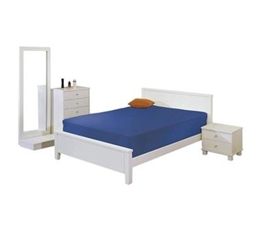 חדרי שינה: חדר שינה זוגי עץ מלא דגם סימה