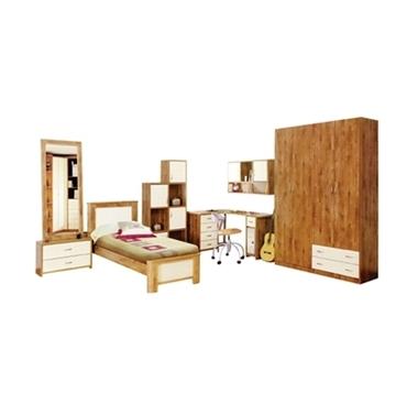חדרי ילדים: חדר ילדים קומפלט עם כוורת ושולחן עבודה דגם עמיר