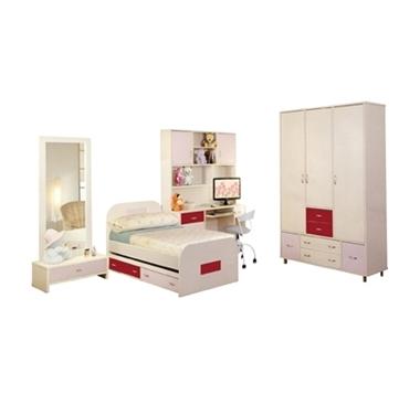 חדרי ילדים: חדר ילדים ונוער כולל ארון דגם מאיר