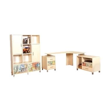 חדרי ילדים: חדר ילדים קומפלט דגם רזיאל
