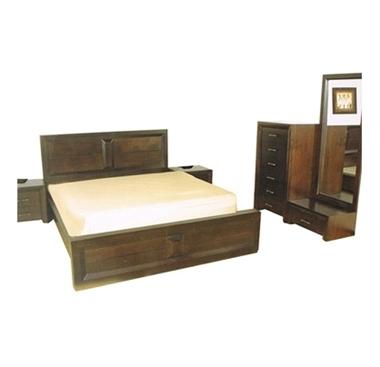 חדרי שינה: חדר שינה מעץ מלא במבצע ענק דגם לקסוס