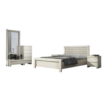חדרי שינה: חדר שינה זוגי מרהיב ביופיו דגם אוניקס
