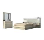 תמונה של חדרי שינה: חדר שינה זוגי מרהיב ביופיו דגם לוצ'י