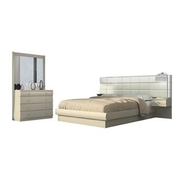 חדרי שינה: חדר שינה זוגי מרהיב ביופיו דגם לוצ'י