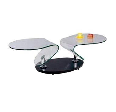 מזנונים ושולחנות טלוויזיה: שולחן סלון זכוכית מרהיב ביופיו דגם גומליה