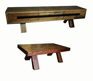 תמונה של מזנונים ושולחנות טלוויזיה: מזנון פלוס שולחן סלוני דגם ירדן