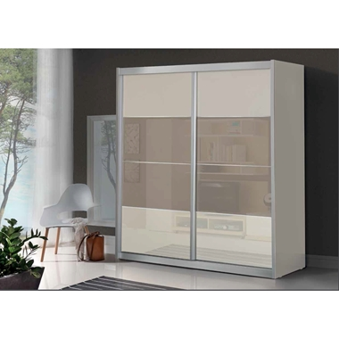 תמונה של  ארונות הזזה: ארון הזזה 2 דלתות בעיצוב קלאסי דגם  סלע
