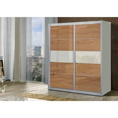 ארונות הזזה: ארון הזזה 2 דלתות בעיצוב קלאסי דגם  הדס