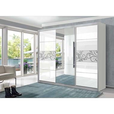 ארונות הזזה: ארון הזזה 3 דלתות בעיצוב קלאסי דגם  רימון