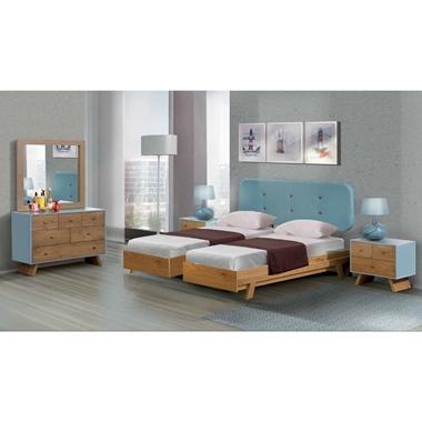 תמונה של חדרי שינה: חדר שינה זוגי קלאסי עם הפרדה דגם מעיין