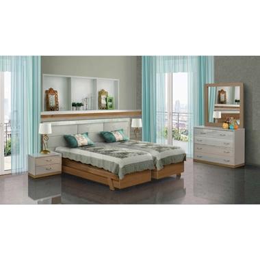 תמונה של חדרי שינה: חדר שינה זוגי קלאסי עם הפרדה דגם יובל