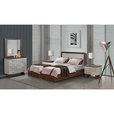 תמונה של חדרי שינה: חדר שינה זוגי קלאסי עם הפרדה דגם עופרי