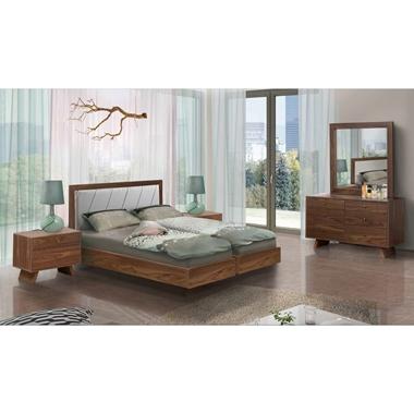 תמונה של חדרי שינה: חדר שינה זוגי קלאסי עם הפרדה דגם ענבר