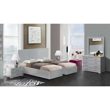 תמונה של חדרי שינה: חדר שינה זוגי קלאסי עם הפרדה דגם ליאור