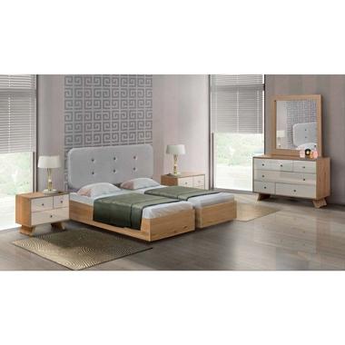 חדרי שינה: חדר שינה זוגי קלאסי עם הפרדה דגם גל