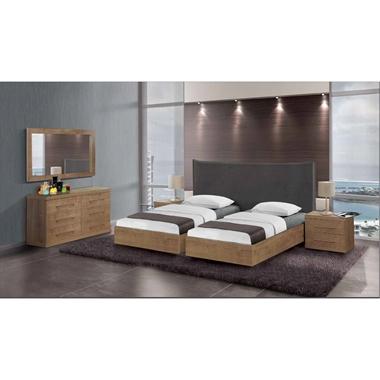 חדרי שינה: חדר שינה זוגי קלאסי עם הפרדה דגם  אוראל