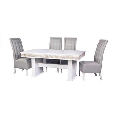 תמונה של פינות אוכל: שולחן + 4 כסאות מעץ