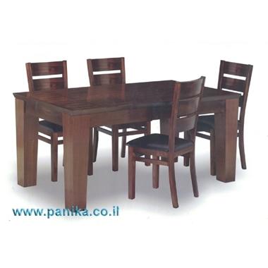 פינת אוכל דגם רוקפור מעץ מלא + 6 כסאות תואמים