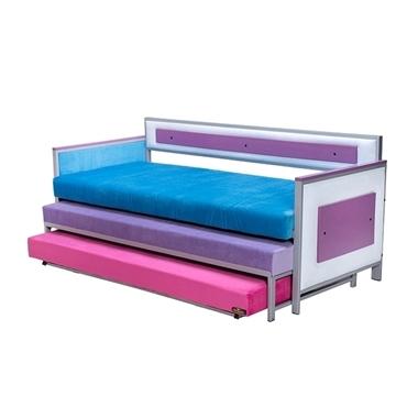 מיטות: ספת נוער אורטופדית + 2 מיטות נגררות דגם מולטי בד