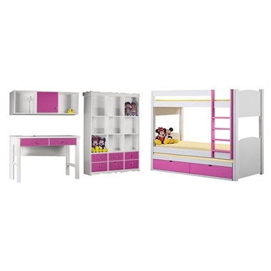 חדרי ילדים: חדר ילדים מעץ מלא דגם חץ