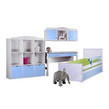 חדרי ילדים: חדר ילדים מעץ מלא דגם כרמל