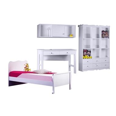 חדרי ילדים: חדר ילדים מעץ מלא דגם מאיה