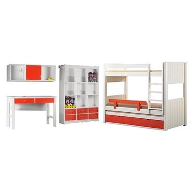 חדרי ילדים: חדר ילדים מעץ מלא דגם מוטי