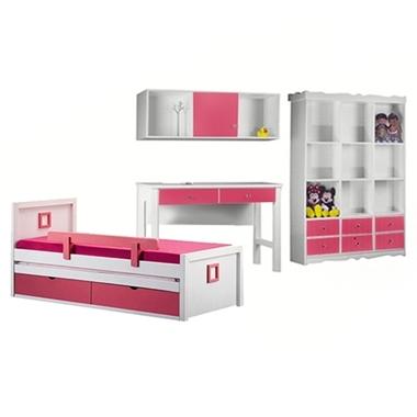 חדרי ילדים: חדר ילדים מעץ מלא דגם נרקיס