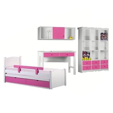 חדרי ילדים: חדר ילדים מעץ מלא דגם נתנאל