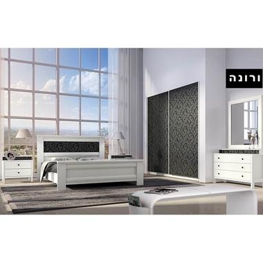 חדרי שינה: חדר שינה זוגי מרהיב ביופיו דגם ורונה