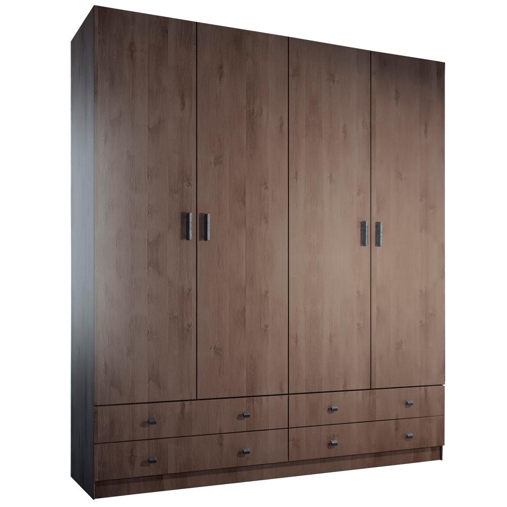 האחרון פניקה רהיטים. ארונות בגדים: ארון 4 דלתות 4 מגירות קלאסי דגם שרון WM-31