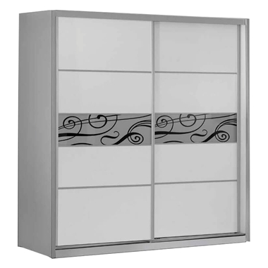 תמונה של ארונות הזזה: ארון הזזה 2 דלתות בעיצוב קלאסי דגם ארז קרלו